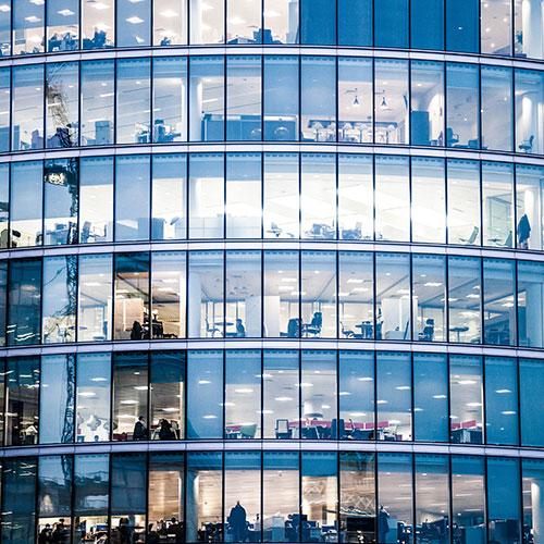 Fensterreiniger Büro
